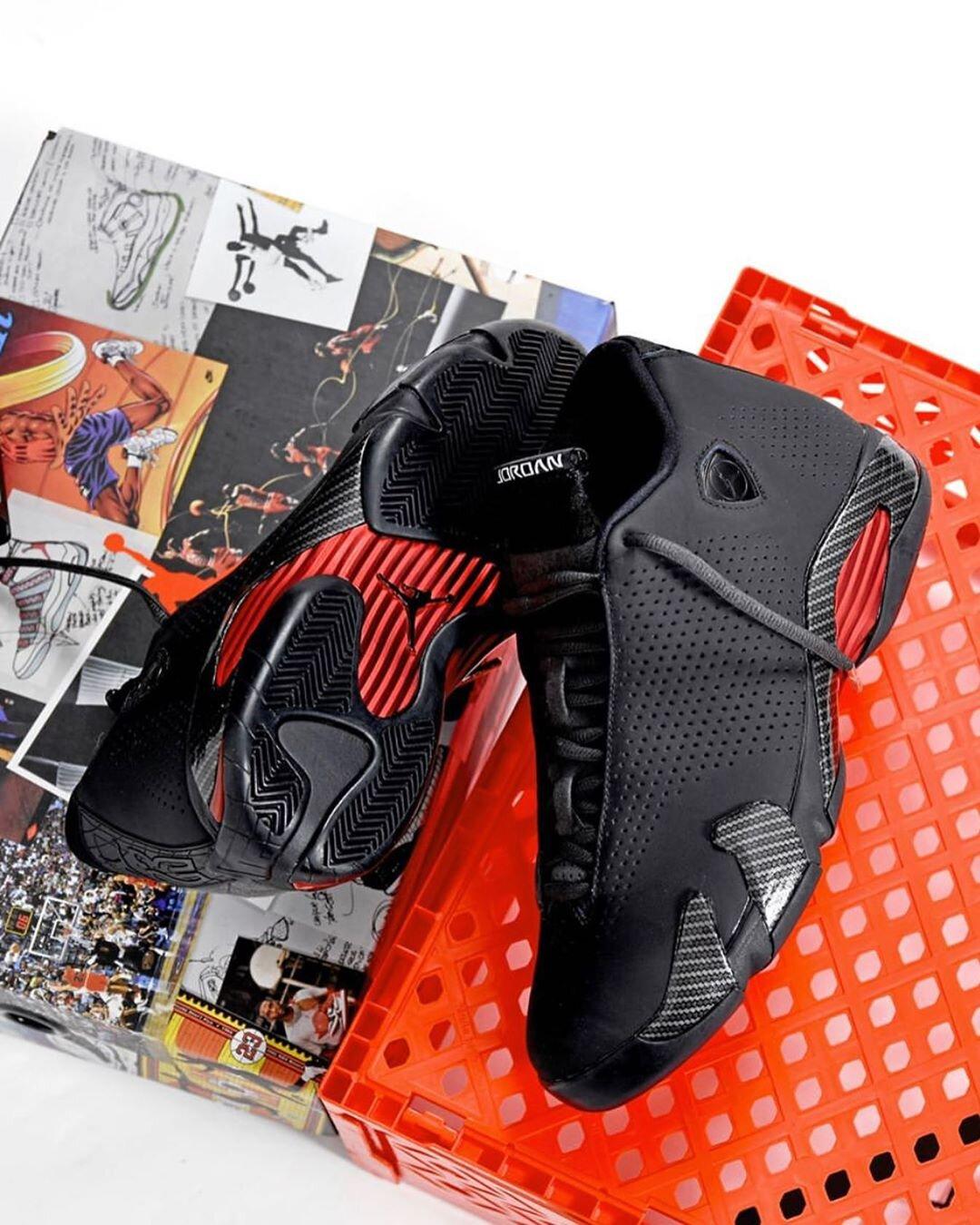 On Sale Air Jordan 14 Retro Black Ferrari Sneaker Shouts