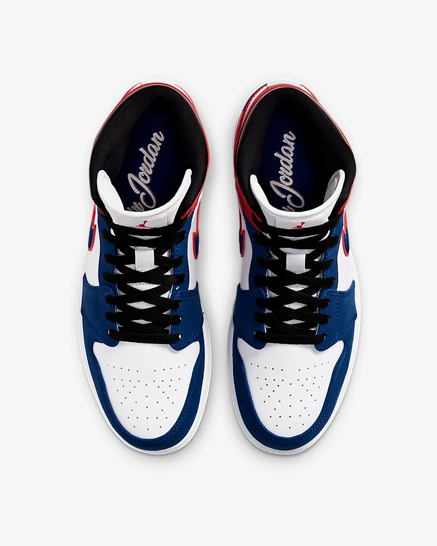 Now Available Air Jordan 1 Mid Se Rush Blue Sneaker Shouts
