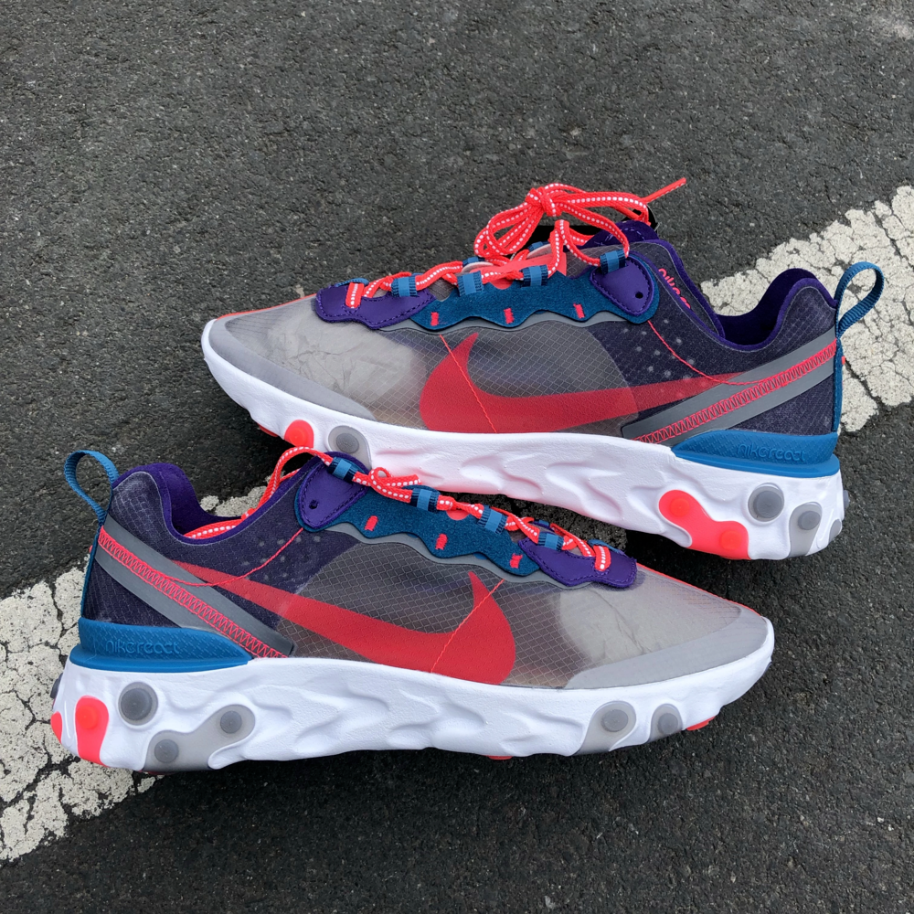 "Nike React Element 87 ""Red Orbit"" : Sale Price: $84.99 (Retail $160)  – FREE SHIPPING – use code:  – FFSEP15 –  at checkout"