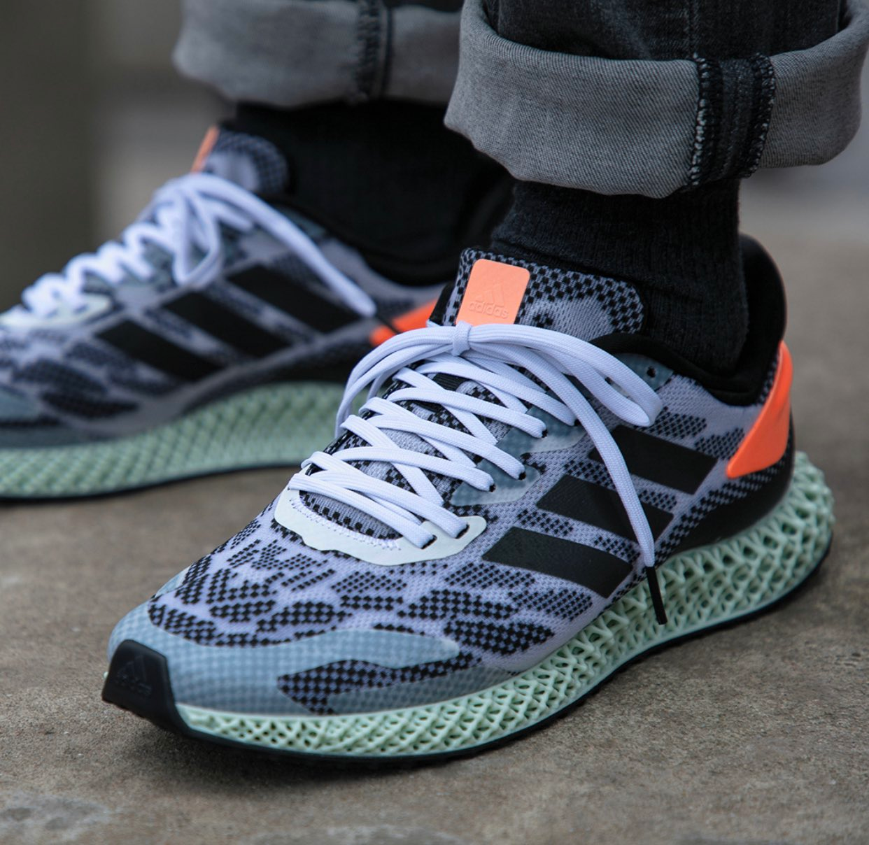 """adidas 4D Run 1.0 """"Black Coral"""" : Sale Price: $120 (Retail $200)  – FREE SHIPPING – use code:  – EXTRA25 –  at checkout"""