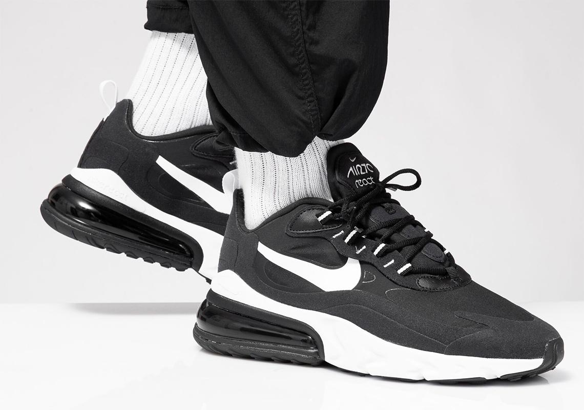 "Nike Air Max 270 React ""Black White"" : Sale Price: $71.97 (Retail $150)  – FREE SHIPPING"
