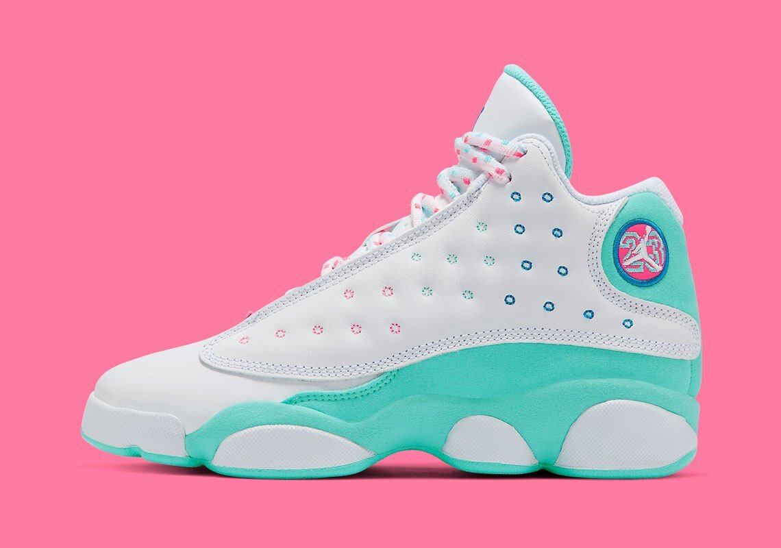 Now Available Gs Air Jordan 13 Retro Aurora Green Sneaker Shouts