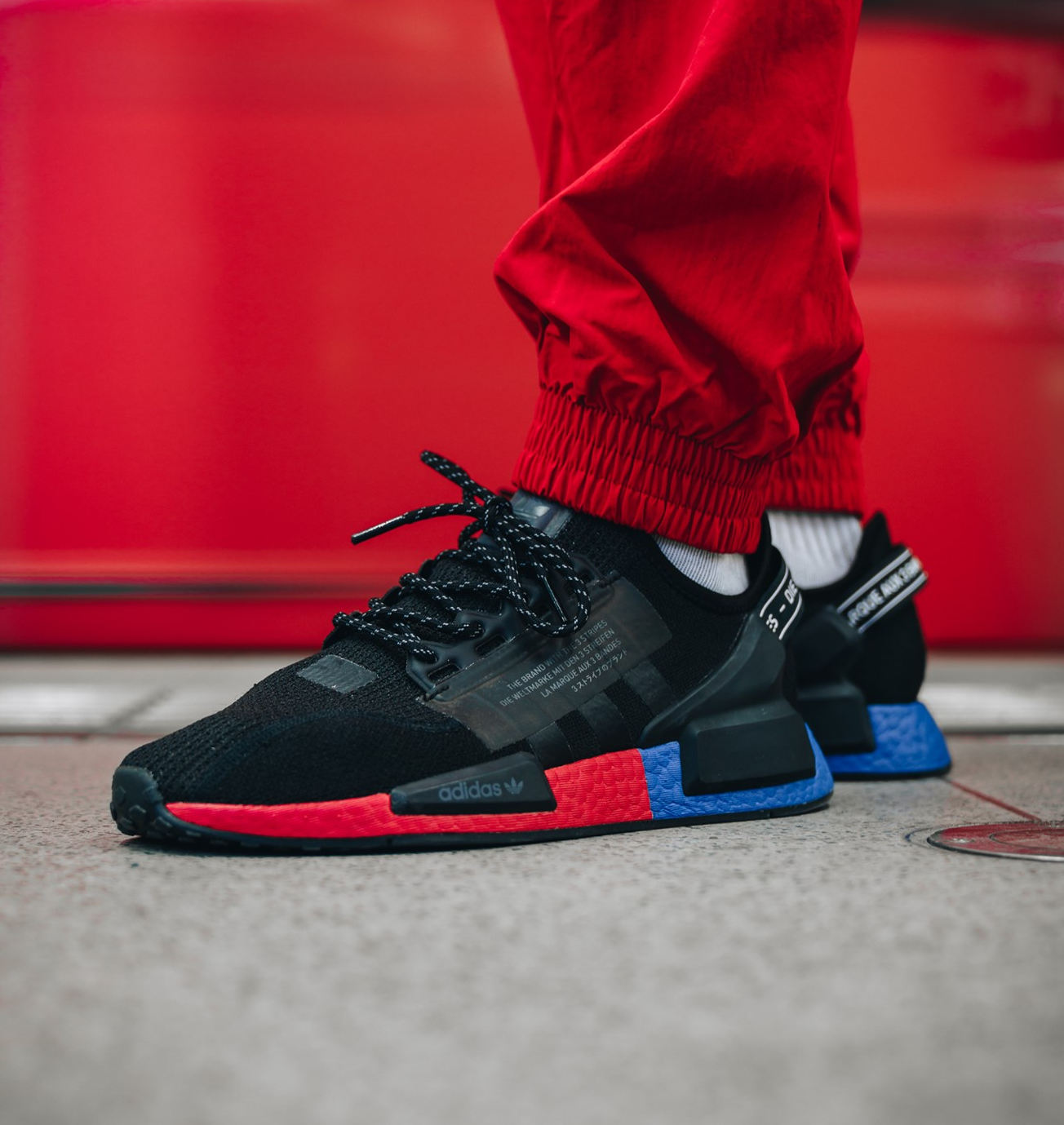 On Sale Adidas Nmd R1 V2 Black Carbon Sneaker Shouts