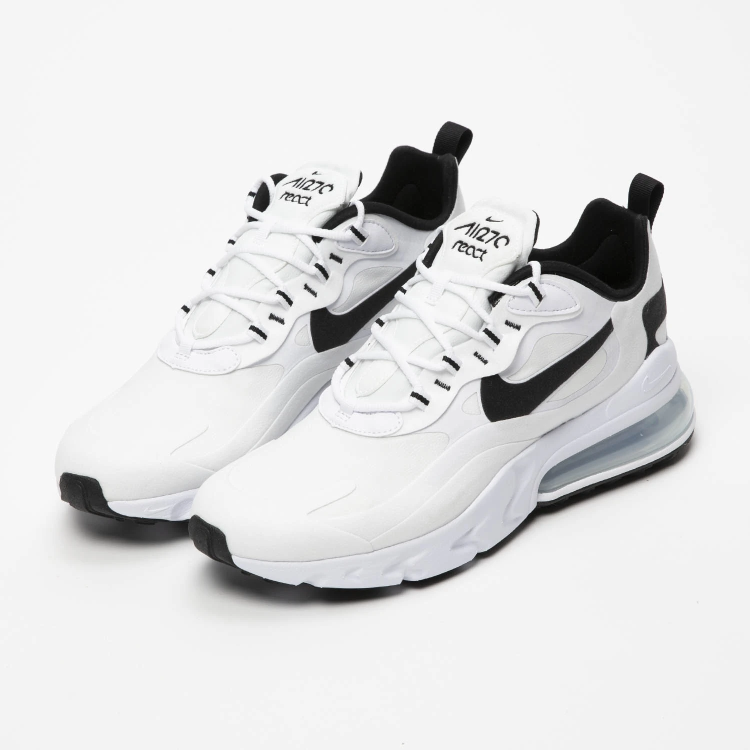 """Nike Air Max 270 React """"White Black"""" : Sale Price: $96 (Retail $160)  – FREE SHIPPING – Discount applied at checkout"""