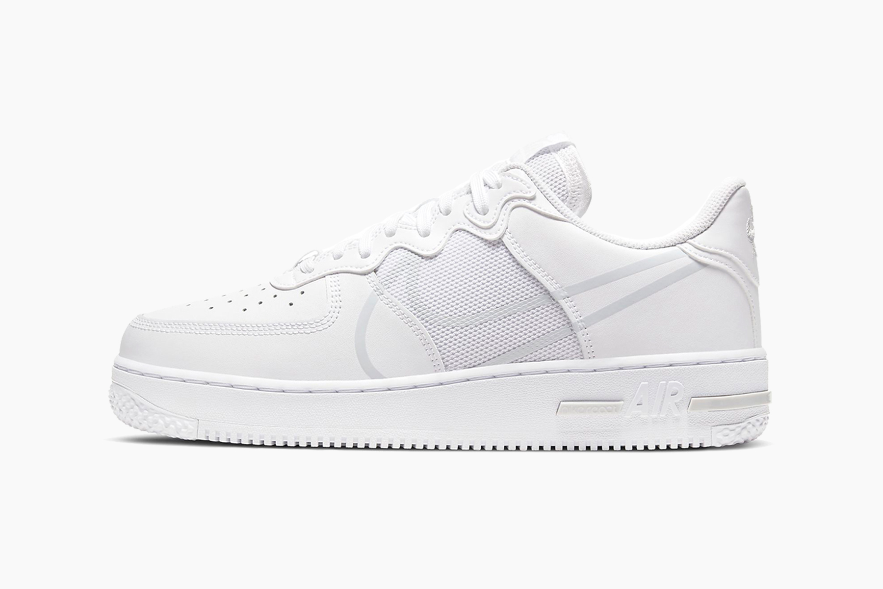 """Nike Air Force 1 Low React """"Pure Platinum"""" : Sale Price: $90.97 (Retail $120)  – FREE SHIPPING"""