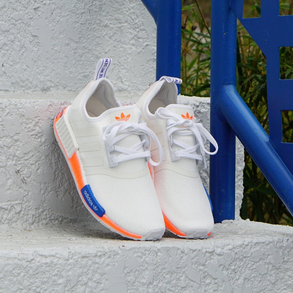 On Sale Adidas Nmd R1 Air Brush White Orange Sneaker Shouts