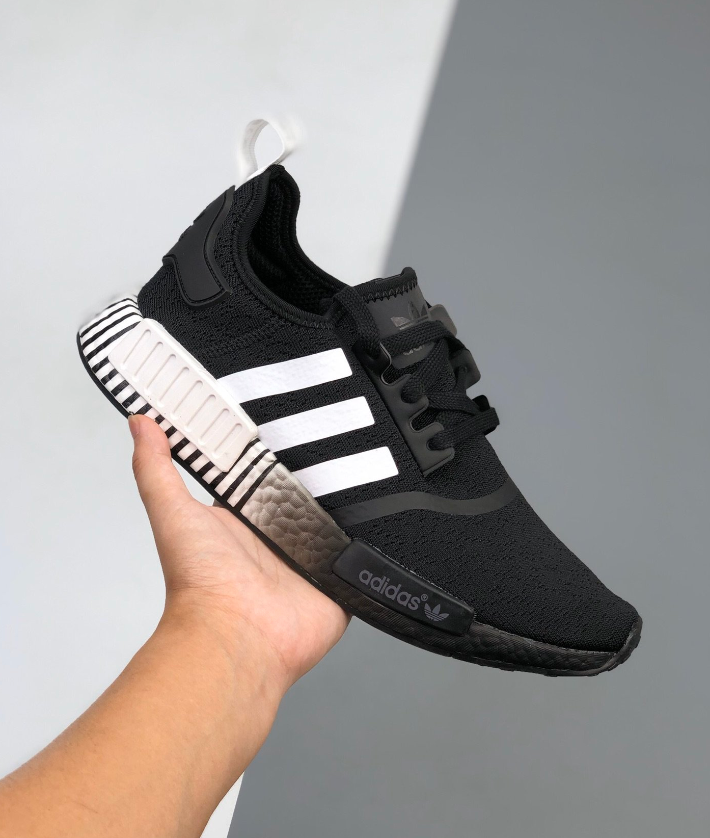 On Sale Adidas Nmd R1 Gradient Black White Sneaker Shouts