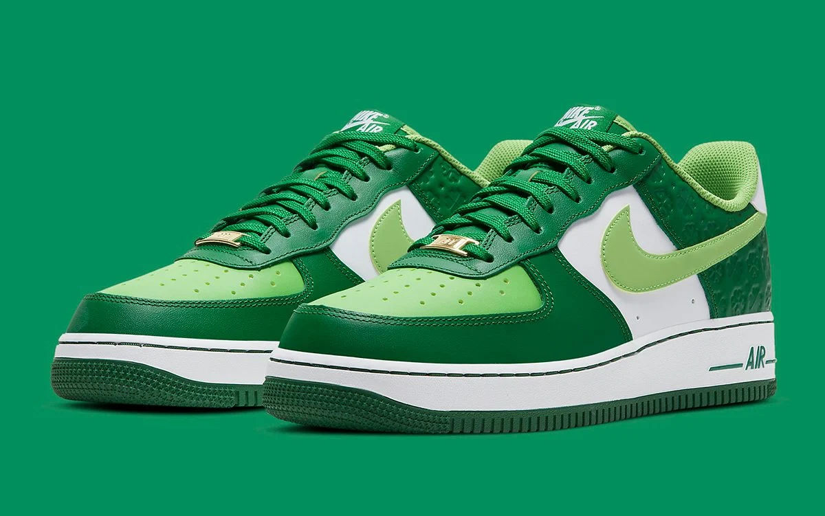 """Now Available: Nike Air Force 1 Low """"St Patrick's Day"""" (2021)"""