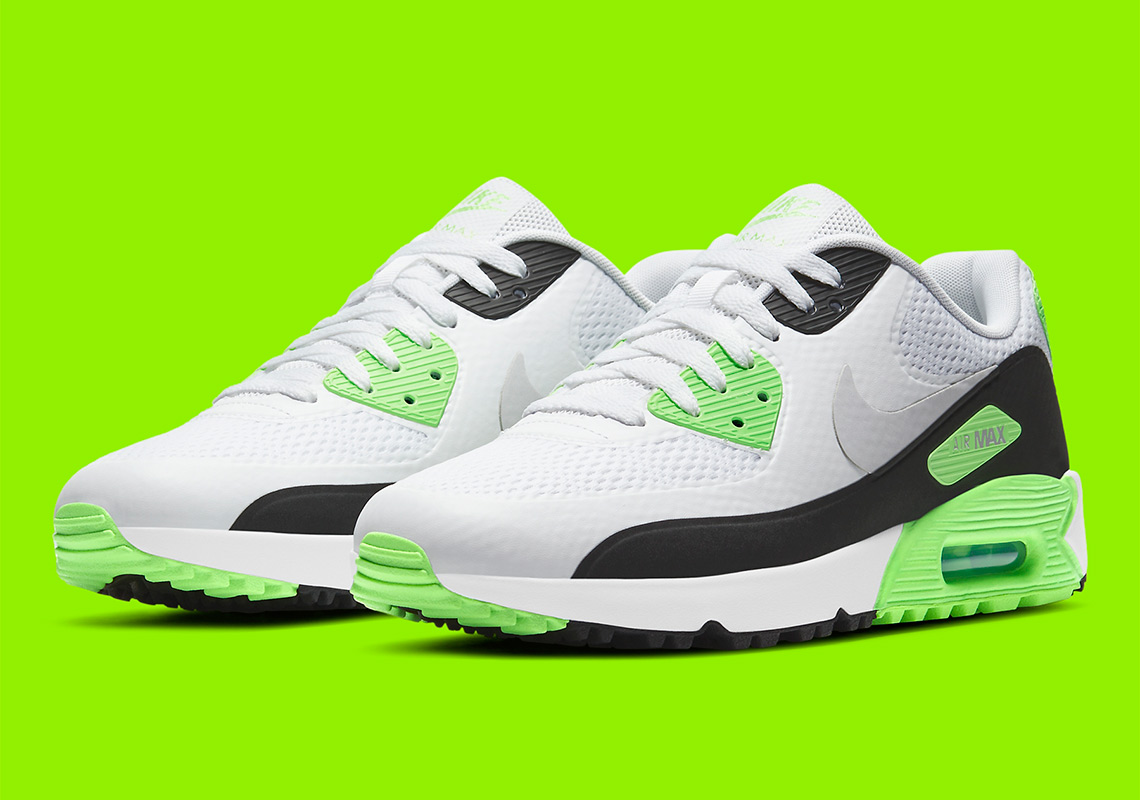 """Now Available: Nike Air Max 90 Golf """"Flash Lime"""""""
