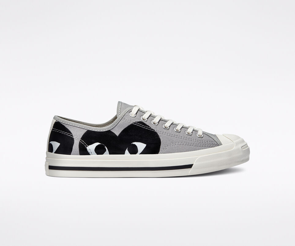 "Now Available: Comme des Garçon x Converse Jack Purcell ""Grey Black"""