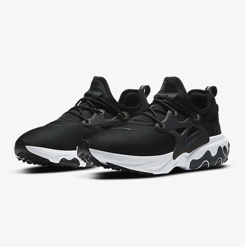 """Nike React Presto """"Off Noir"""": Sale Price: $80.97 (Retail $130)  – FREE SHIPPING"""