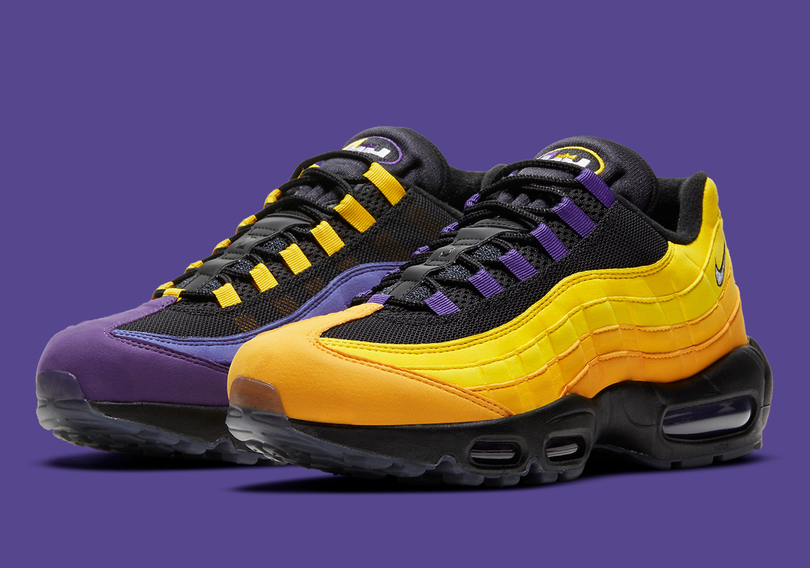 """Now Available: Nike Air Max 95 NRG """"Lakers"""""""