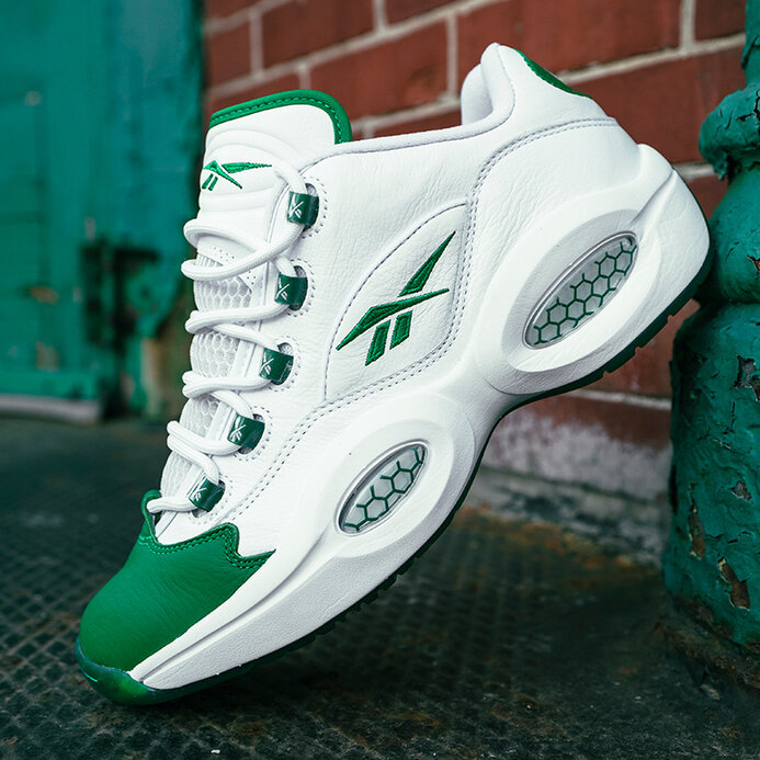 """Now Available: Reebok Question Low """"Green Toe"""""""
