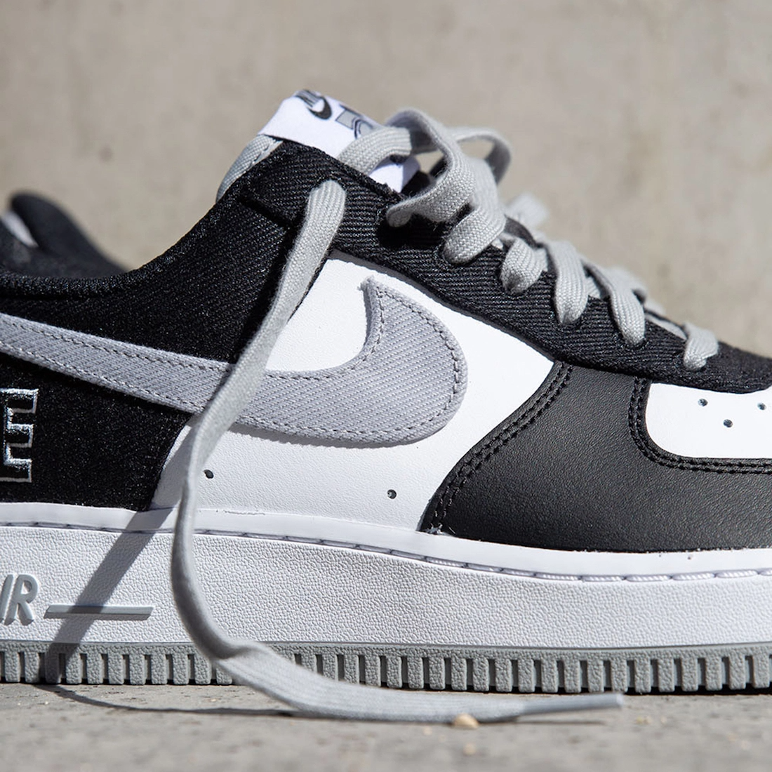 """Now Available: Nike Air Force 1 Low EMB """"Black Flat"""""""