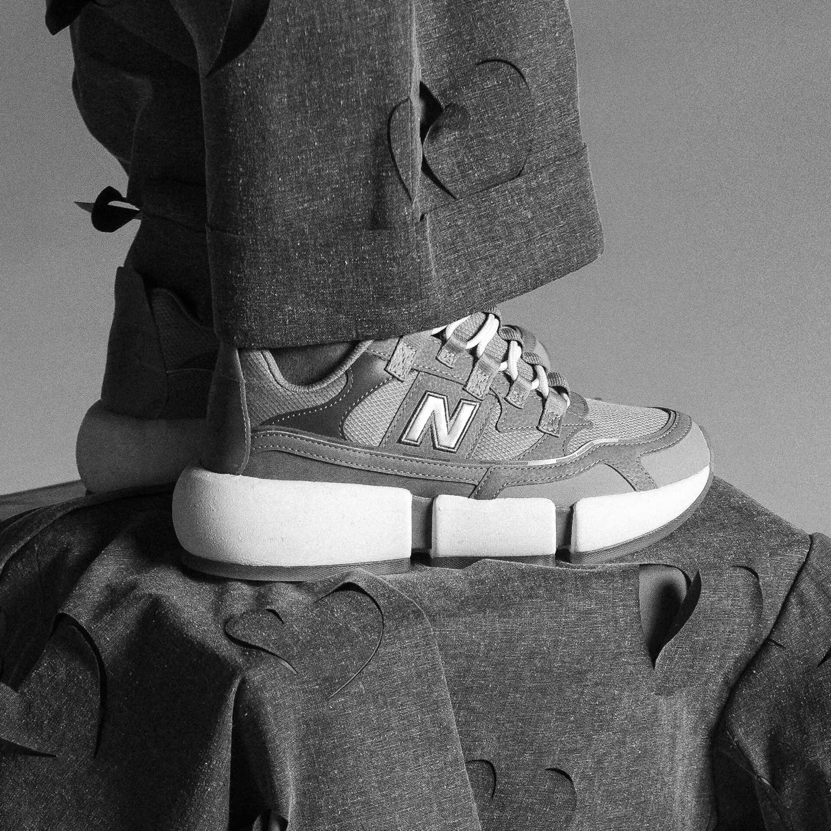 """Jaden Smith x New Balance Vision Racer """"Grey"""": Sale Price: $120 (Retail $150)  – FREE SHIPPING – use code:  – SCR20 –  at checkout"""