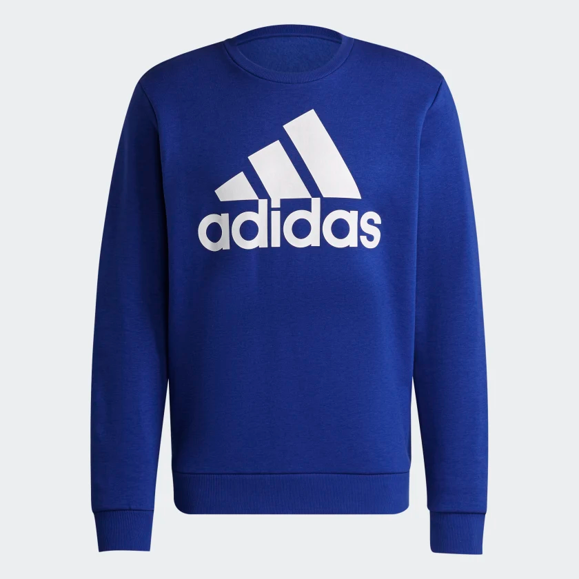 Essentials_Big_Logo_Sweatshirt_Blue_H12205_01_laydown.png