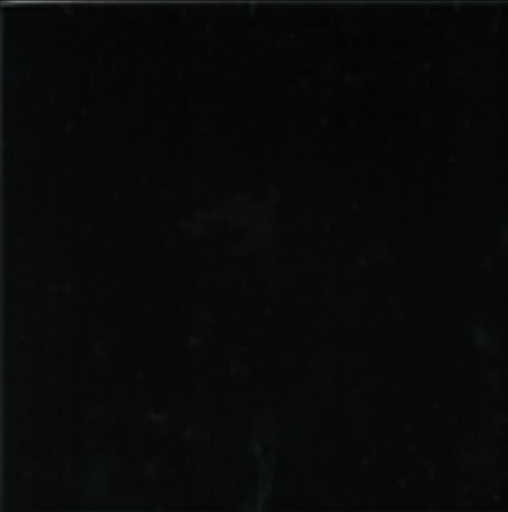 Art Deco Plain field tile 152x152mm Black