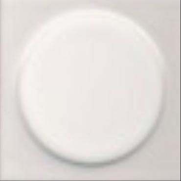 Art Deco tile Quatt 75x75mm Bright White