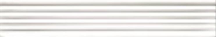 Art Deco tile Reeded Slip 25x152mm Bright White
