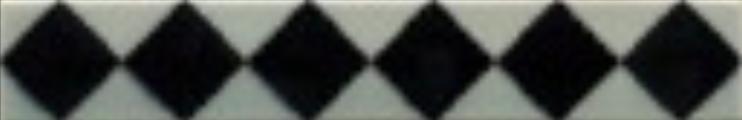 Art Deco tiles Decors Eaton Black and mist 25x152mm