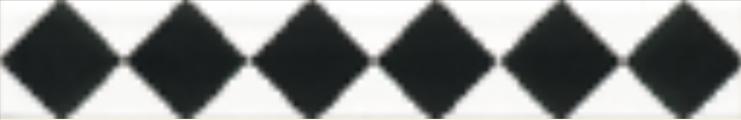 Art Deco tiles Decors Eaton Black and white 25x152mm