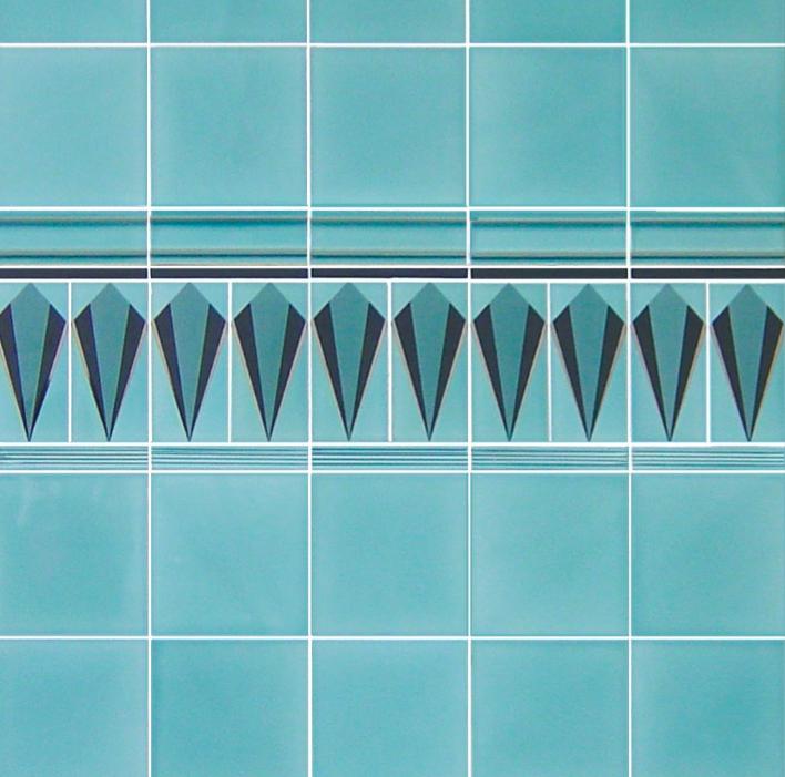 Demo Art Deco Wall Tile Decors Cosford Aqua 152x152mm