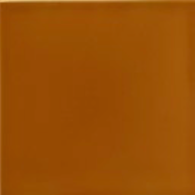 Art Nouveau Plain Field Tile 152x152mm Amber
