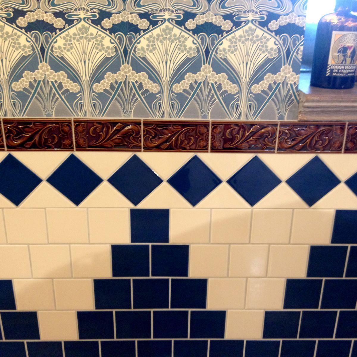 Demo Victorian Cressage decorative tiles 75x152mm - exterior use - laurel or chestnut 2