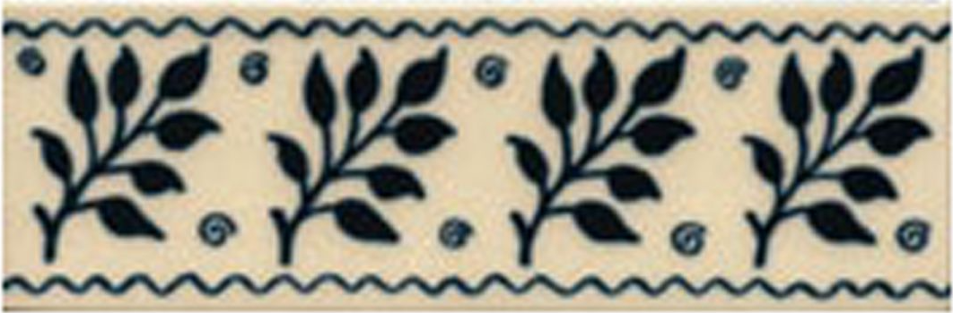 Victorian Tile Classic Printed Fenton 50x152mm Deep Blue