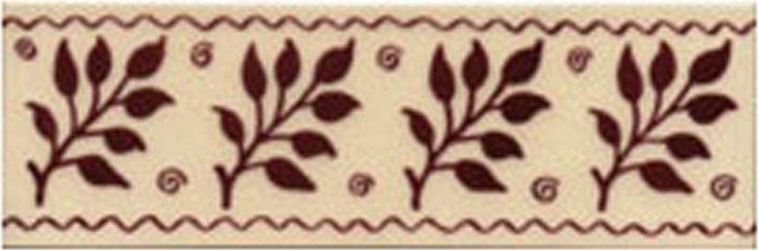 Victorian Tile Classic Printed Fenton 50x152mm Burgundy