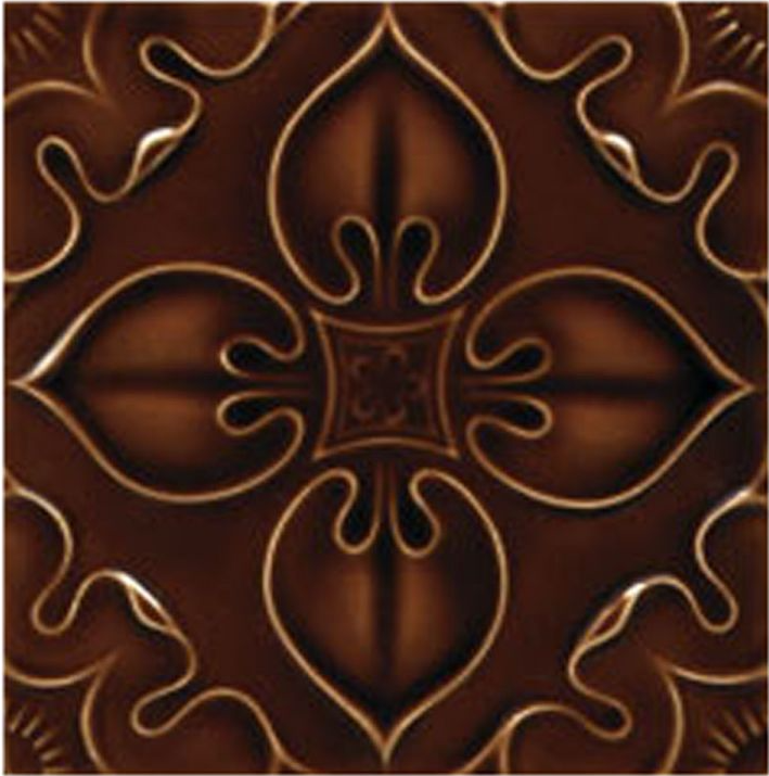 Victorian Tile Decors Traditional Embossed Benthall 152x152mm Chestnut