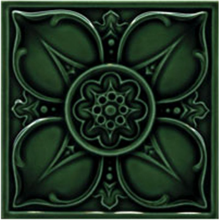 Victorian Tile Decors Traditional Embossed Leighton 152x152mm Laurel