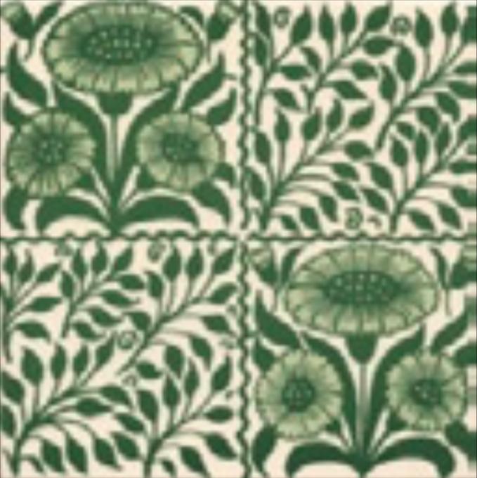 Victorian Tile Classic Printed Oreton 152x152mm Laurel