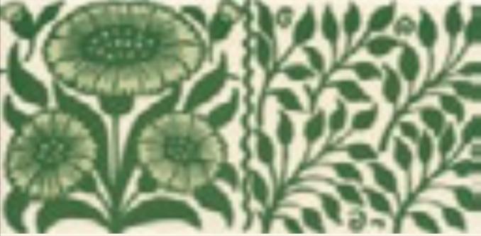 Victorian Tile Classic Printed Oreton 152x75mm Laurel