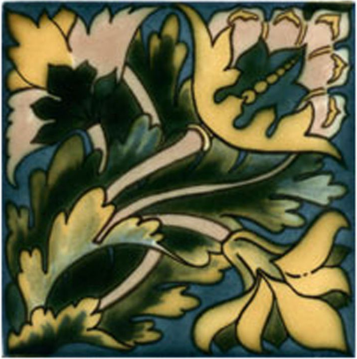 Victorian Tile Classic Printed Maurice 152x152mm