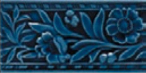 Victorian wall Claverley tiles 75x152mm Deep Blue