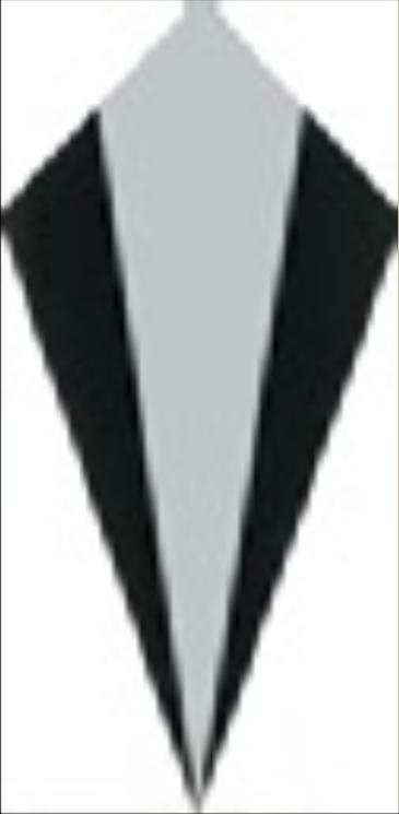 Art Deco tiles Decors Cosford Deco Black and White 75x152mm