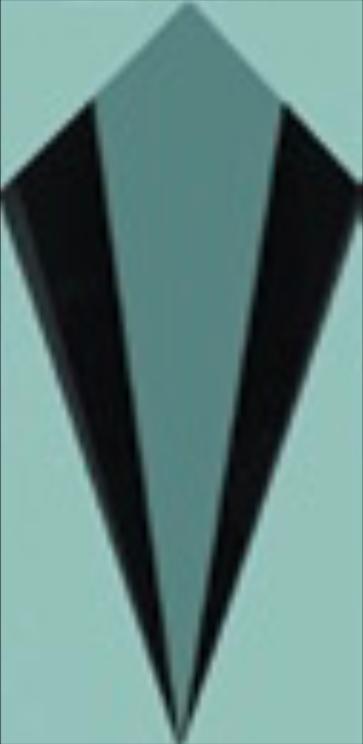 Art Deco tiles Decors Cosford Deco Aqua 75x152mm