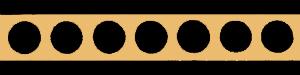Encaustic Tile Border 152mm x 38mm B1006b