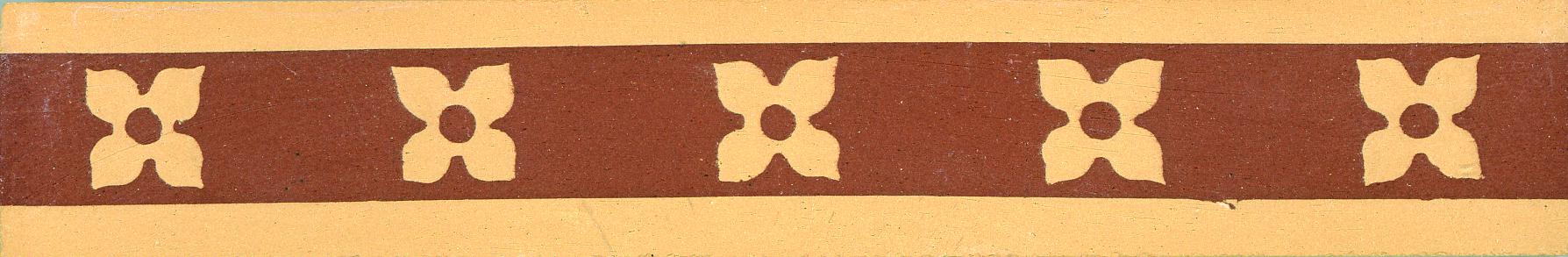 Encaustic Tile Border 125mm x 25mm B0001