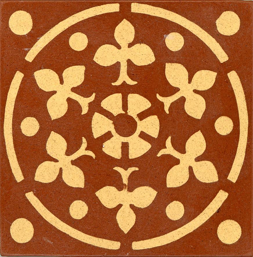 Encaustic Tile 75mmx75mm 3022a