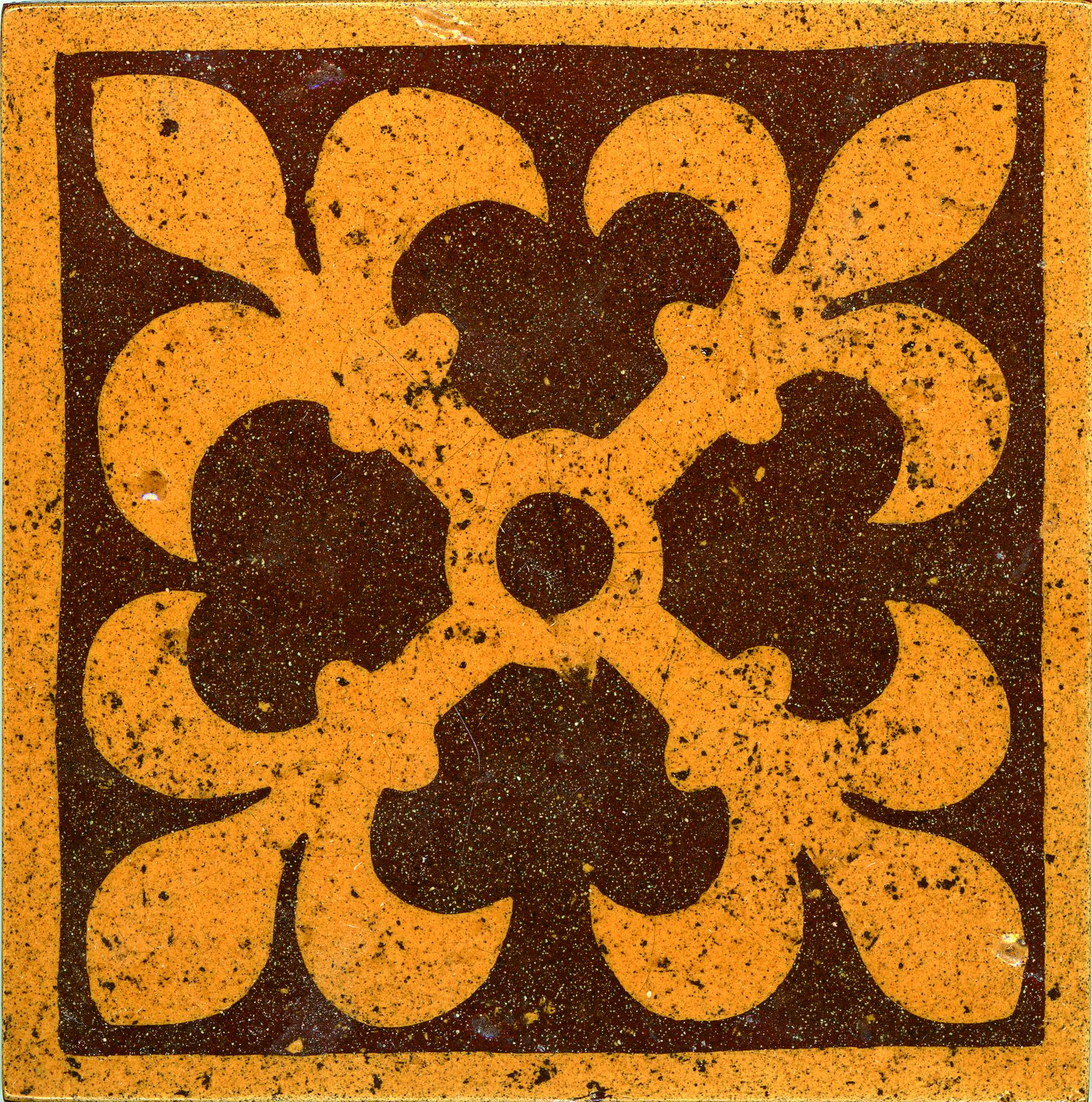 Glazed Textured Encaustic Tiles 152x152 GT6007