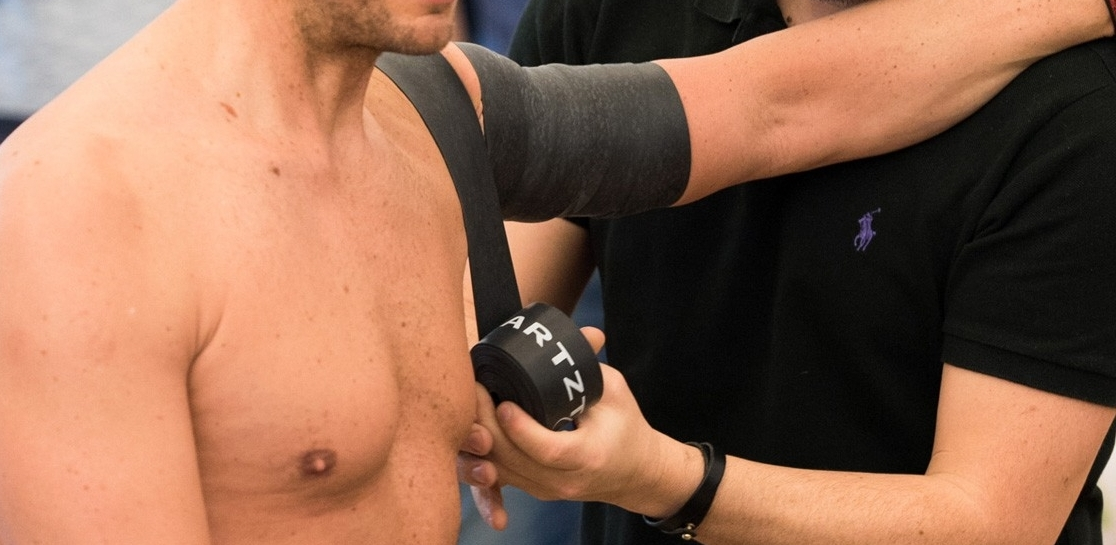 Beispiel Wrapping Schulter (Foto:  physiotherapeut.de )