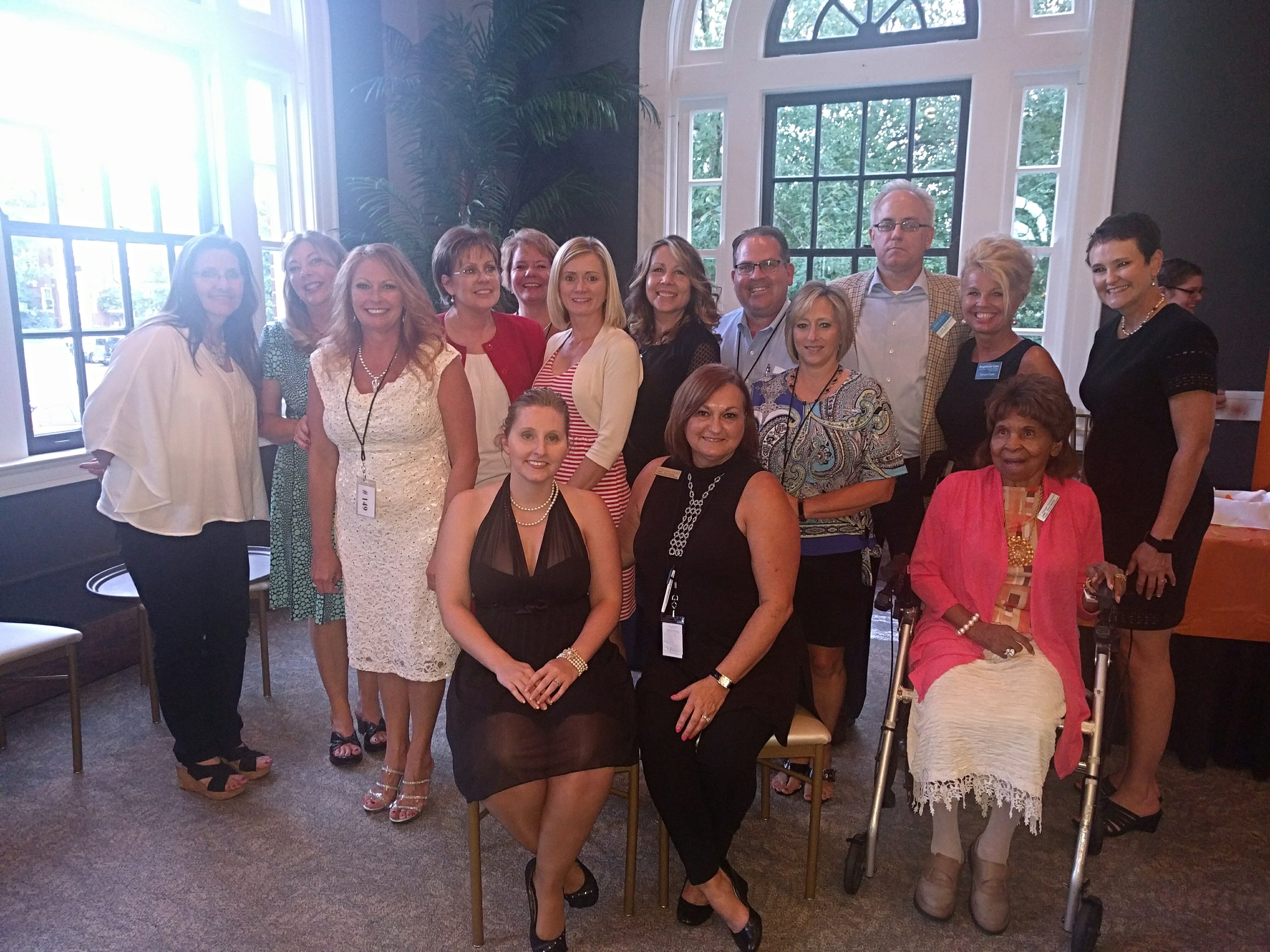 Pictured Left to Right. Starting with back row. Pam Jeseo (2015 Board Member), Carrie Orman (Executive Director), Tara Waters, Carolyn Franklin, Amy Walter, Valerie Goss, Yvonne Adkins (Board President) Mike Brown (Finance Director), Susan Lawson (Vice President), John Dotson, Teresa Doyle, Leah Phillips-Black,  Pictured Left to Right. Starting front row. Alisha Duvall (Charitable Gaming Director), Malana Eckert-CoutyGinger Drummond