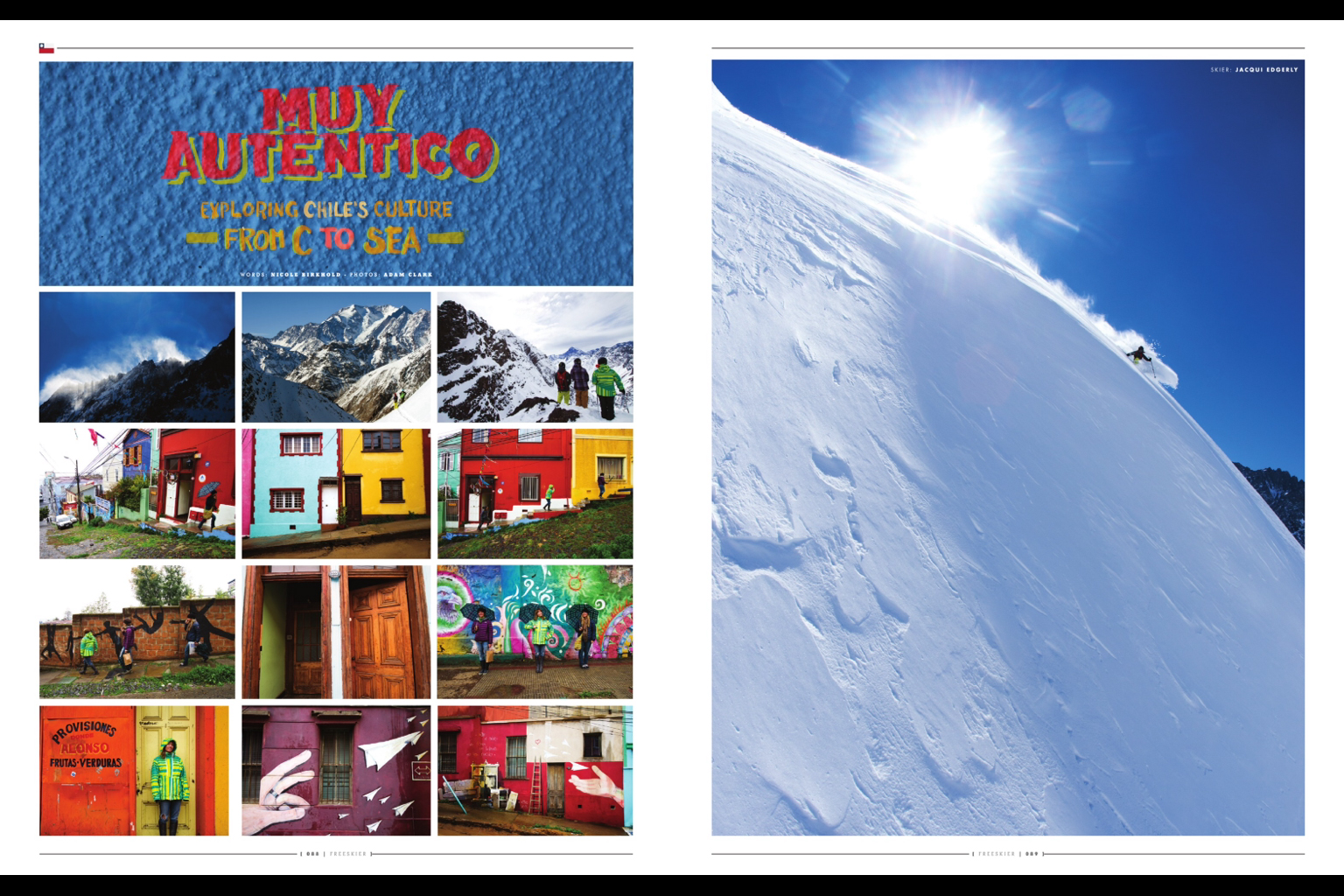 Muy Autentico - featured in Freeskier Magazine December 2011
