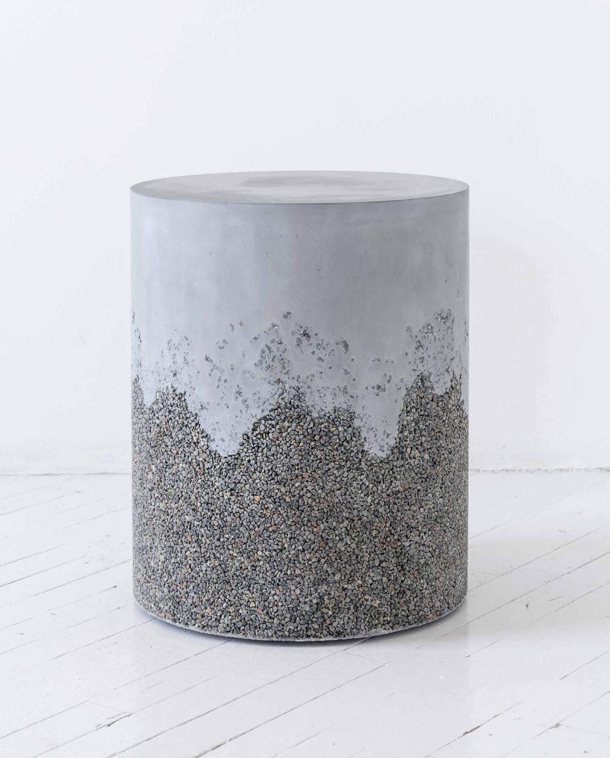 Stunning new tables made from aggregate and concrete by MMaterial/$4800  View Product Website