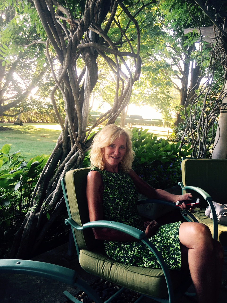 The lovely Martha at home. (I made her take this photo.:)