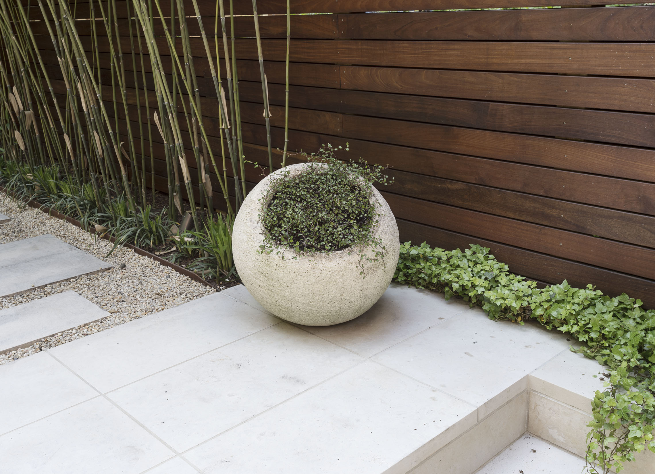 Cool Sculptural Planters: an unusual find,in stone,from  The Bayberry  in Amagansett, LI.