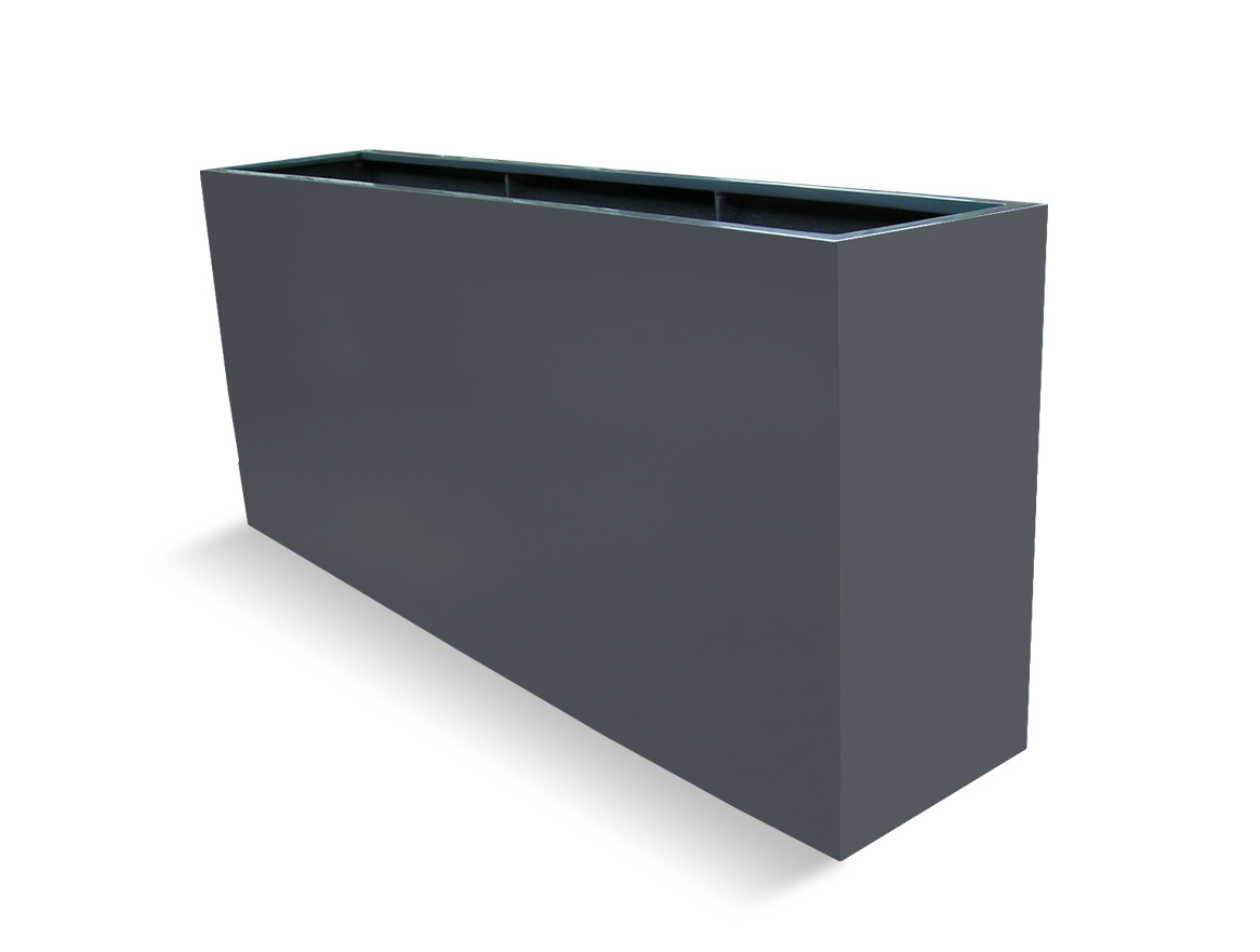 So we have in our window planters from  Planter Resource , which are lightweight (fiberglass) and pretty sturdy. They do the trick.