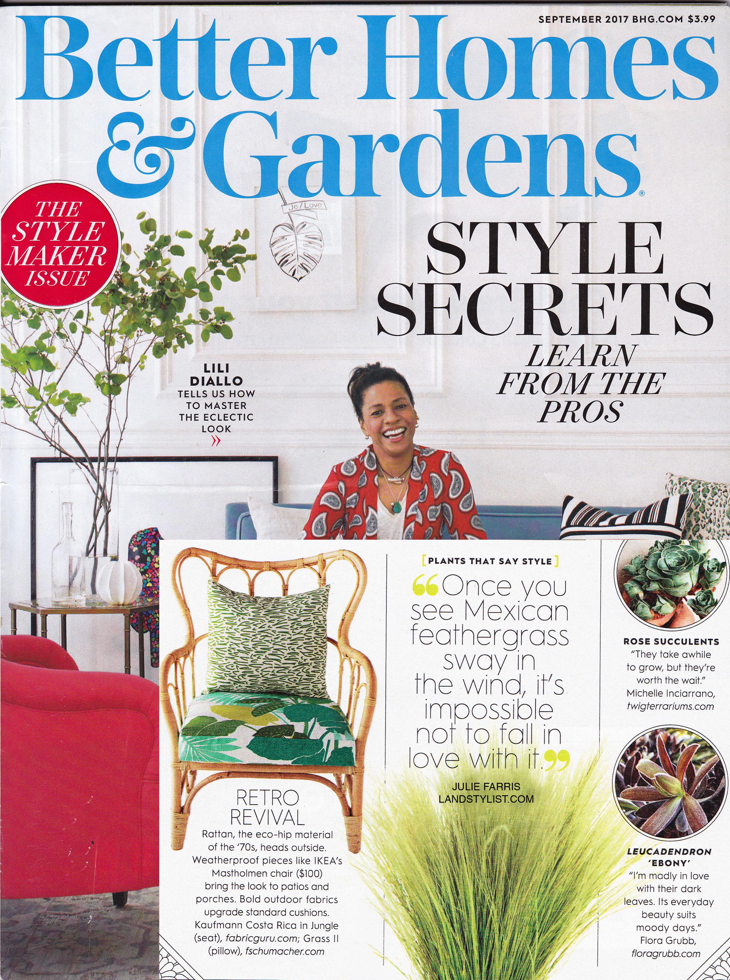 Better Homes and Gardens,  September 2017